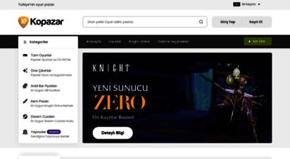 kopazar.com - türkiye´nin en büyük oyun alışveriş sitesi  kopazar