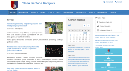 ks.gov.ba - vlada kantona sarajevo