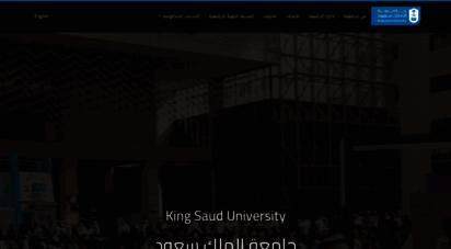 ksu.edu.sa - king saud university - جامعة الملك سعود