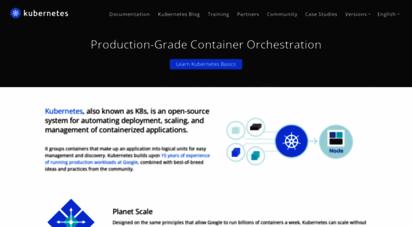 kubernetes.io - production-grade container orchestration - kubernetes