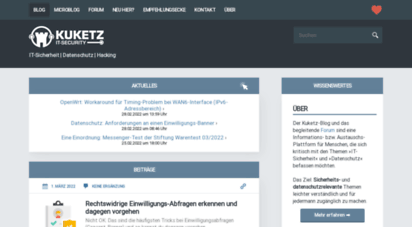kuketz-blog.de - kuketz it-security blog ⋆ it-sicherheit  datenschutz  hacking