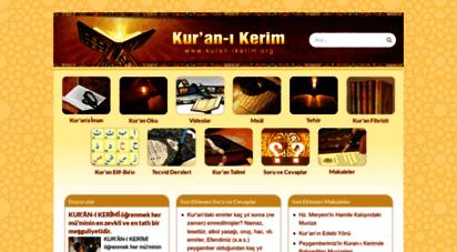kuran-ikerim.org - kur´an-i kerim  kur´an allah´ın kelamıdır