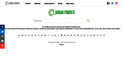 kuranfihristi.net - kuran fihristi - türkçe kuran meali, konularına göre ayetler ve kuran tefsiri
