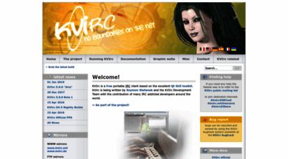 kvirc.net - kvirc.net - the visual irc client