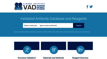 labome.com - validated antibody database, antibodies, sirna/shrna, elisa, cdna clones, proteins/peptides, and biochemicals