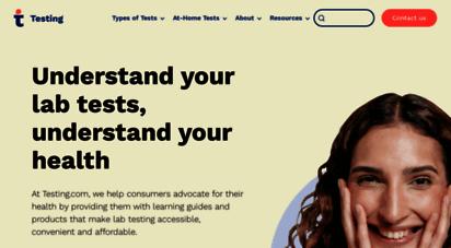 labtestsonline.org - patient education on blood, urine, and other lab tests lab tests online