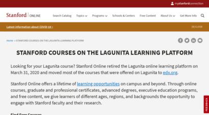Welcome to Lagunita stanford edu - | Stanford Lagunita