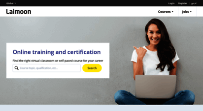 laimoon.com - find virtual classrooms, online certification and training courses for your career  laimoon.com