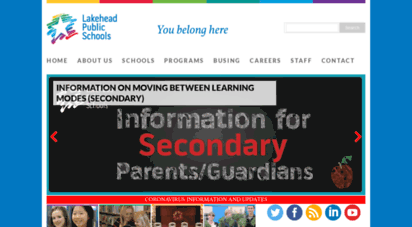 lakeheadschools.ca - lakehead public schools  your children  our students  the future