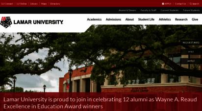 lamar.edu - a nationally-ranked college in texas