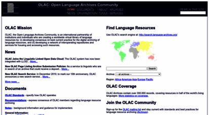 language-archives.org - open language archives community
