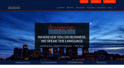 languageconnections.com - language connections: translation, interpreting, and training