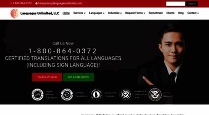 languagesunlimited.com - language translation & interpreting services by certified translators