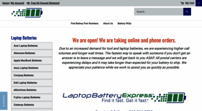 laptopbatteryexpress.com - laptop batteries, chargers and ac adapters  laptop battery express