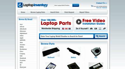 laptopinventory.com - laptop parts  replacement parts for laptop repair