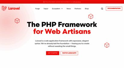 laravel.com - laravel - the php framework for web artisans