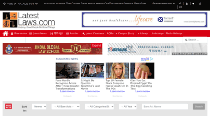 latestlaws.com - latest laws in india  legal news in india, law firms news & s india
