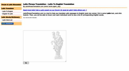 latintranslation.school - latin phrase translation - latin online translation
