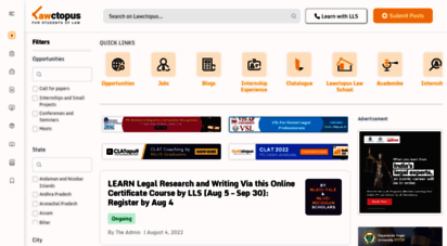 lawctopus.com - lawctopus - for law students in india: internships, things to do, advice on career in law