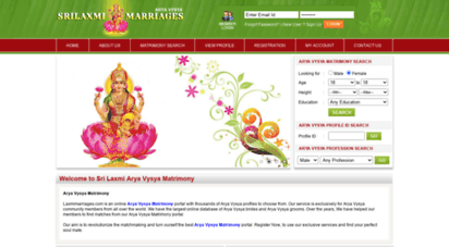 Welcome to Laxmimarriages com - Arya Vysya Matrimony