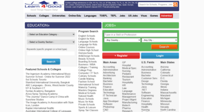 learn4good.com - schools,college admissions,online courses,jobs in usa,europe,uk,ca,ny english,free job postings uae