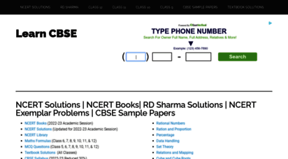 Welcome to Learncbse.in - NCERT Solutions | RD Sharma Solutions | NCERT  Exemplar Problems | CBSE Sample Pa...