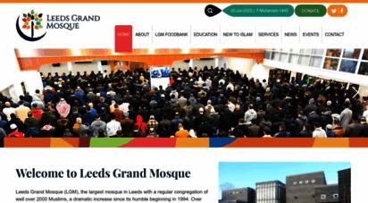 leedsgrandmosque.com - leeds grand mosque: serving the muslim community in leeds