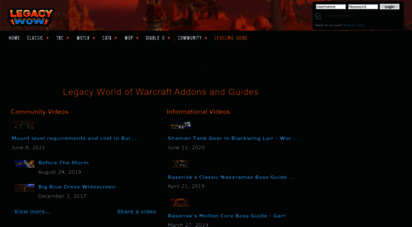 legacy-wow.com - legacy wow - legacy news - addons and guides for vanilla, tbc and wotlk