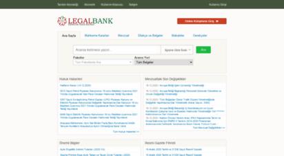legalbank.net - legalbank - elektronik hukuk bankasi