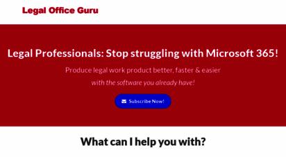 legalofficeguru.com - legal office guru — bite-sized solutions to your microsoft office challenges