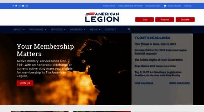 legion.org - the american legion a u.s. veterans ssociation