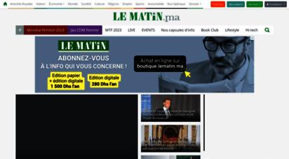 lematin.ma - lematin.ma - premier journal quotidien au maroc.