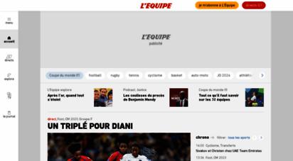lequipe.fr - l´équipe - l´actualité du sport en continu.