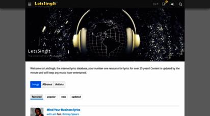 letssingit.com - the internet lyrics database  letssingit lyrics