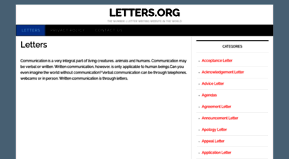 letters.org