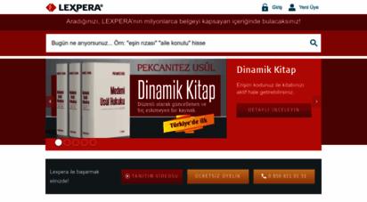 lexpera.com.tr - lexpera - hukuk bilgi sistemi: mevzuat, içtihat, literatür & örnekler