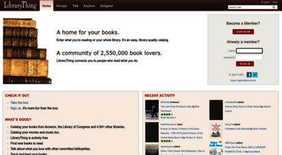 librarything.com - librarything  catalog your books online