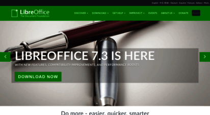 libreoffice.org - home  libreoffice - free office suite - based on openoffice - compatible with microsoft