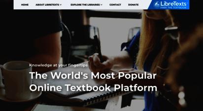libretexts.org - libretexts - free the textbook