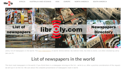 librly.com - librly - list of newspapers in the world. best online newspaper directory