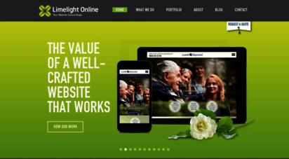 limelightonline.co.nz - istchurch website design, web development & seo  limelight online