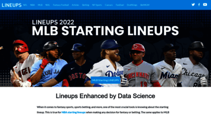 lineups.com - lineups: starting lineups, rosters, betting odds, fantasy stats