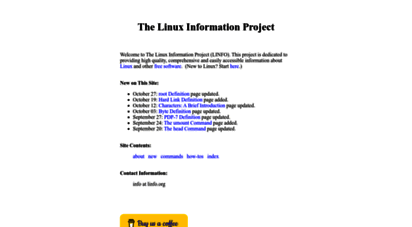 linfo.org - the linux information project linfo home page