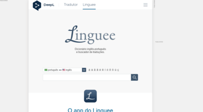 linguee.com.br - linguee  dicionário inglês-português e outros idiomas