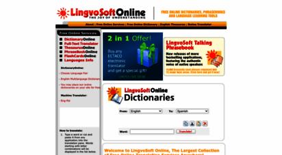 lingvozone.com - lingvosoft online - free online translation services - online dictionary, english thesaurus, phrasebooks, flashcards, full text translators