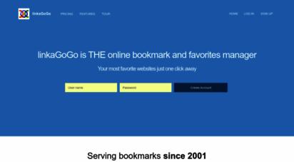 linkagogo.com - linkagogo  the online favorites and bookmark manager