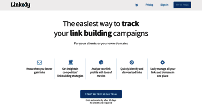 linkody.com - backlink tracker by linkody - the most accurate backlink monitoring tool