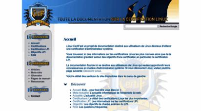 linuxcertif.com - linux certif - accueil