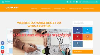 lisette-mag.fr - lisette mag  webzine du marketing et webmarketing