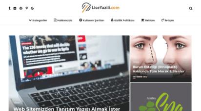 liseyazili.com - ana sayfa
